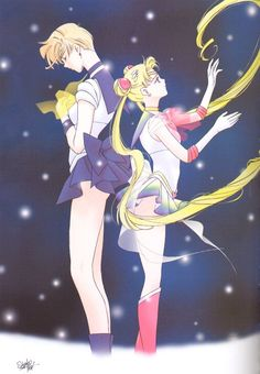 Sailor Uranus and Sailor Moon