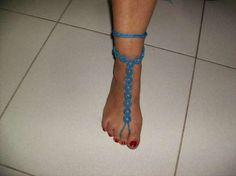 Pulseiras de pé feitas á mão de crochét Braga (São José De São Lázaro E São João Do Souto) - imagem 4