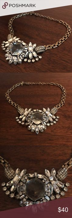 "J. Crew Bib Statement Necklace J. Crew Bib statement necklace Great condition!  18"" stretched out  Love the necklace, but not the price? Make me an offer😊 J. Crew Jewelry Necklaces"