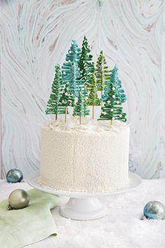Pine Tree Forest Cake - CountryLiving.com                                                                                                                                                                                 More