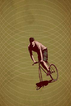 Fixie Art  Adams Carvalho fixie bicycle
