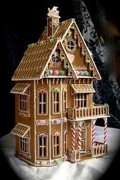 Ginger bread house I really want to make one this year.