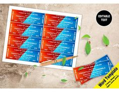 event tickets editable word template printable instant download you edit word template diy editable ticket raffle tickets