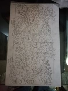 Border Embroidery Designs, Embroidery Motifs, Beaded Embroidery, Pencil Design, Rug Hooking Patterns, Madhubani Painting, Sewing Art, Designs To Draw, Zentangle