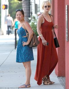 Lunch date: The actress headed out for a bite to eat with her publicist, Jessica Kolstad, at Cuvee restaurant