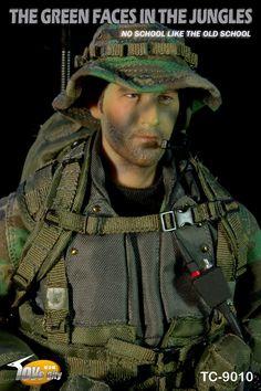Toys city US Navy Seal Jungle ops Head Sculpt 1//6 DID 3R TC9010