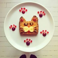 #FoodArt con gattino #cat
