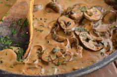 Slimming Eats Steak with Creamy Mushroom Peppercorn Sauce - gluten free, Slimming World and Weight Watchers friendly