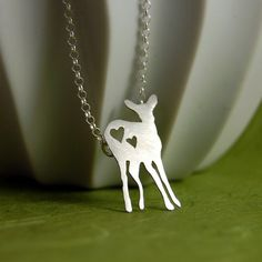 Sterling Silver Deer Love