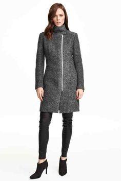Cappotto in misto lana bouclé