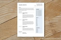 Blue Resume Template - MS Word. Resume Templates