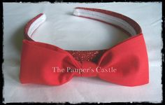 Disney Princess Snow White Red Bow Headband by ThePaupersCastle