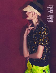 Katie Fogarty in Stella McCartney by Emma Tempest for Amica