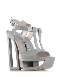 Today's So Shoe Me is the Cutout Sandals by Casadei, $995, available at ShoeScribe. Shape up your spring style with these dove grey architectural heels by Casadei. Even though your wallet may need some time to recover it will all be worth it when you look down and spot these sky high beauties.