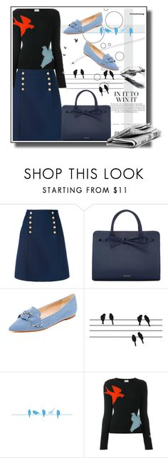 """""""Bird print"""" by noconfessions ❤ liked on Polyvore featuring Gucci, Mansur Gavriel, Sam Edelman, ferm LIVING and RED Valentino"""