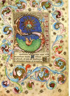 <b>Vintage</b> Bible <b>Illuminated</b> Manuscript Print, Psalm 68, God King David,…