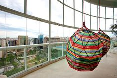 Love these hanging chairs