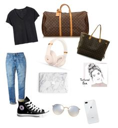 """Travel kid"" by clarafabraauger on Polyvore featuring moda, Calvin Klein, Deby Debo, Converse, Louis Vuitton, Beats by Dr. Dre y Ray-Ban"