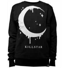 Crescent Moon motifs of the Unisex sweatshirts black locks with cute... ($64) ❤ liked on Polyvore featuring tops, hoodies, sweatshirts, sweaters, punk tops, unisex tops, rock sweatshirts, rock tops and punk sweatshirts