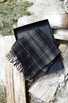 Can't decide between a navy, green or gray scarf for him? Tartan checks all the boxes.