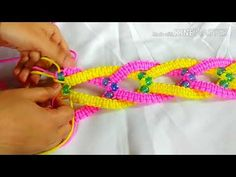 Beautiful Macrame Towel Hanger - YouTube Towel Hanger, Tripod, Beautiful, Plant, Wall, Youtube, Caps Hats, Tutorials, Plants