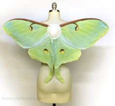 luna moth and monarch butterfly wings costume tutorial for kids and adults