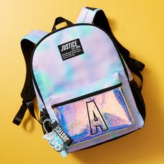 Cool dye effects and extra sparkle add a little extra cool to her on-the-go style! Justice Backpacks, Justice Bags, Justice Stuff, Justice Girls Clothes, Justice Clothing, Swag Outfits, Cute Casual Outfits, Girl Outfits, Justice Accessories