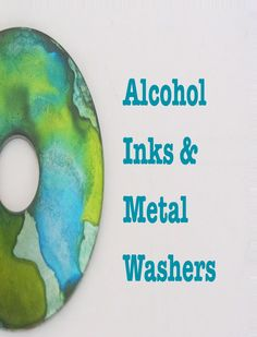 I'm having fun with alcohol inks and metal washers I bought at the hardware store. What fun I'm having. Inks are fun! Metal Washers Great Deal I paid cen. Alcohol Ink Jewelry, Alcohol Ink Glass, Alcohol Ink Crafts, Alcohol Ink Painting, Washer Crafts, Diy Jewelry Making, Diy Jewellery, Resin Jewelry, Jewelery
