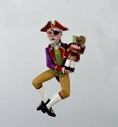 "4"" Nutcracker Suite Red Glitter Drosselmeyer Christmas Figure Ornament ** Visit the image link more details."