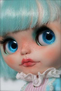 Chrys a Blythe Custom Doll by aniO on Etsy, $600.00 look at that price, I like those eyes.