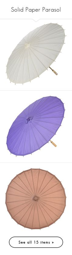 """""""Solid Paper Parasol"""" by paperlanternstore ❤ liked on Polyvore featuring accessories, umbrellas, vintage umbrellas, paper umbrellas, ivory umbrella, print umbrella and hot pink umbrella"""
