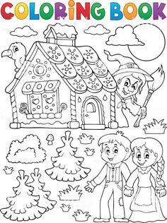 Nursery Rhyme Crafts, Nursery Rhymes, Coloring Pages For Kids, Coloring Books, Printable Worksheets, Printables, Fairy Tale Activities, Hansel Y Gretel, Drawing Stencils