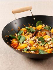 Rezept von Jane Hornby: Butternut Curry mit Spinat & Cashewkernen - Valentinas-Kochbuch.de - kochen, essen, glücklich sein