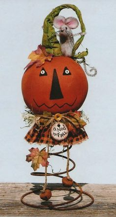 Primitive E-Pattern A Nod of the Head to Fall image 6 Halloween Doll, Halloween Projects, Halloween Themes, Vintage Halloween, Halloween Pumpkins, Fall Halloween, Halloween Decorations, Fall Decorations, Halloween Stuff