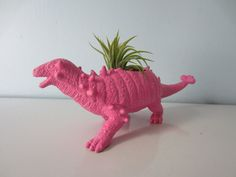 Upcycled Dinosaur Planter