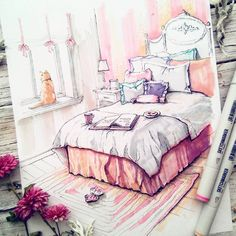 The Bedroom. Interior Design with a Sprinkle of Fantasy. By Anna Shelmina.