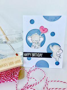 Adorable Elephants - MFT. Card by Nicky Noo Cards #nickynoocards and https://www.facebook.com/nickynoocards/