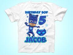 Catboy Birthday Shirt, PJ Masks Birthday shirt, Super Hero Birthday tShirt, Party Shirt by FunPartyDay on Etsy