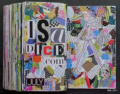 """Love this- it looks like something my """"hippy-ish"""" Grade teacher would have taught us to do. Loved her class! Journal Ideas Smash Book, Art Journal Inspiration, Art Journal Pages, Art Journaling, Journal Cards, Collage Book, Book Art, Altered Books, Altered Art"""