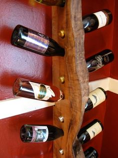 Look! A Live-Edge Maple Scrap Wine Rack | Apartment Therapy