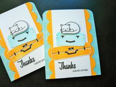 Card for Pet Sitter Pet Sitting Thank You Card by apaperaffaire