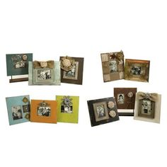 IMAX Millman Photo Frames - Set of 12 - 70900-12. IMAX Millman Photo Frames - Set of 12 - 70900-12 Eclectic, shabby chic style frames feature floral embellishments and burlap ribbons. The collection of twelve is an instant way to add charm to multiple areas of the home. Prod.. . See More Picture Frames at http://www.ourgreatshop.com/Picture-Frames-C736.aspx