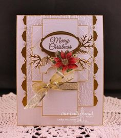 SC463 A Little Poinsettia by cathymac - Cards and Paper Crafts at Splitcoaststampers