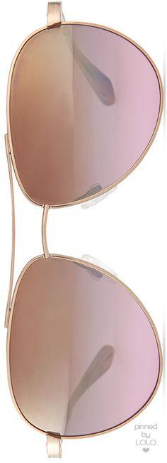 Barton Perreira Universal Fit Lovitt Mirror Aviator Sunglasses, Rose Golden | LOLO❤︎