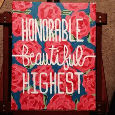 Hand painted Kappa Delta canvas