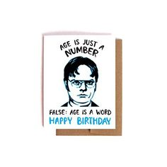 Dwight Schrute Birthday Card -- The Office Bday Card, Friendship Card, for best friend
