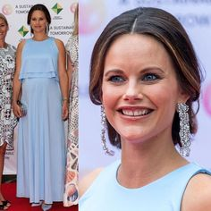 2 August 2017 - Princess Sofia attends the charity dinner of Project Playground - dress by Malina, earrings by Charlotte Bonde