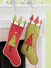 It's the most wonderful time of the year! We've posted oodles of free patterns for Christmas quilts, wall hangings, table runners and tree. Quilted Christmas Stockings, Christmas Stocking Pattern, Christmas Applique, Xmas Stockings, Christmas Sewing, Handmade Christmas, Christmas Crafts, Christmas Ideas, Christmas Quilting