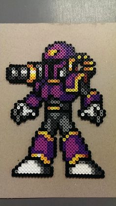 Vile Perler Bead Sprite from Mega Man X by That8bitGuyBeadArt