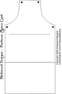 template for apron card